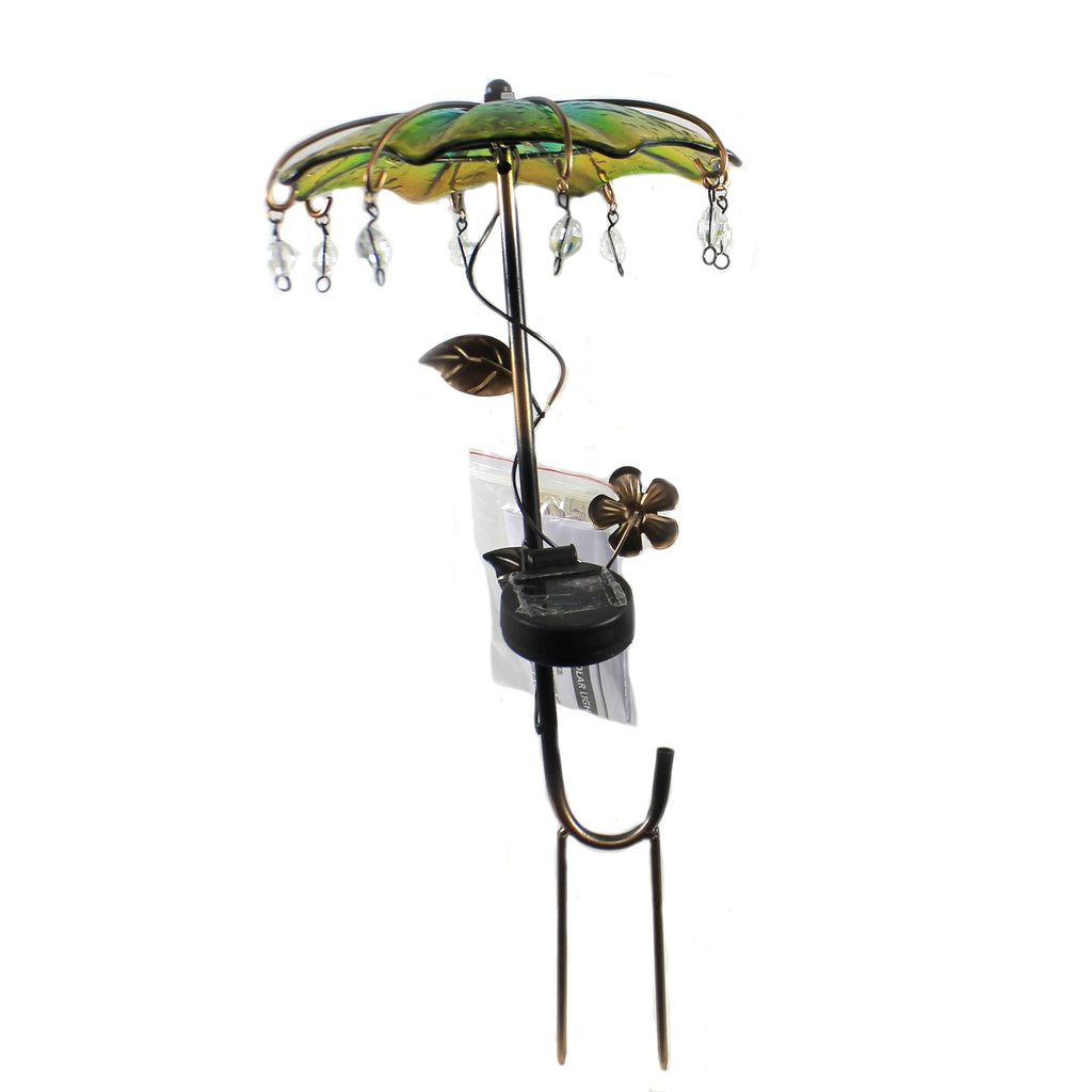 Umbrella Solar Stake Yellow 12546 Yellow Home & Garden Decorative Stakes And Pokes And Plant Sticks - SBKGIFTS.COM - SBK Gifts Christmas Shop Cincinnati - Story Book Kids