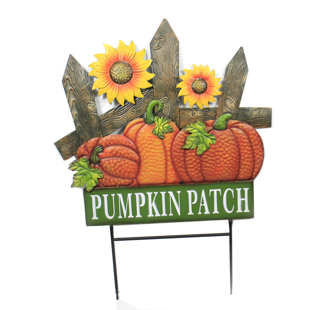 Pumpkin Patch Sunflowers Stake 31833659 Home & Garden Decorative Stakes And Pokes And Plant Sticks - SBKGIFTS.COM - SBK Gifts Christmas Shop Cincinnati - Story Book Kids