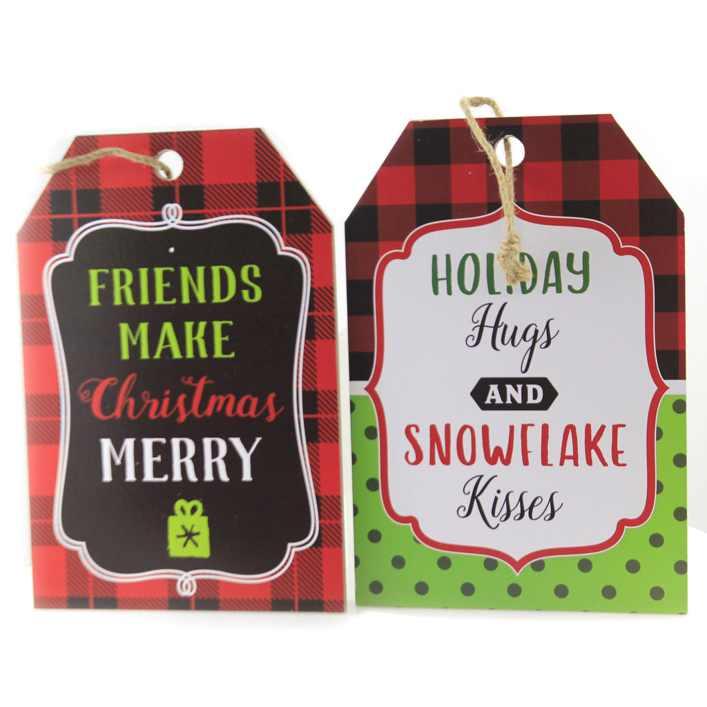 Hanging Tag Ornament Sign Ex20565 Friends Christmas Signs And Plaques - SBKGIFTS.COM - SBK Gifts Christmas Shop Cincinnati - Story Book Kids