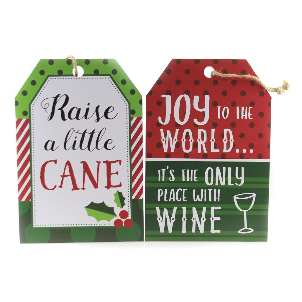 Hanging Tag Ornament Sign Ex20565 Wine Christmas Signs And Plaques - SBKGIFTS.COM - SBK Gifts Christmas Shop Cincinnati - Story Book Kids