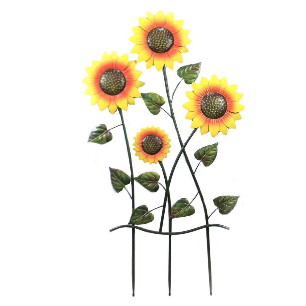 Sunflowers On 3 Pole Stakes 31833675 Home & Garden Decorative Stakes And Pokes And Plant Sticks - SBKGIFTS.COM - SBK Gifts Christmas Shop Cincinnati - Story Book Kids