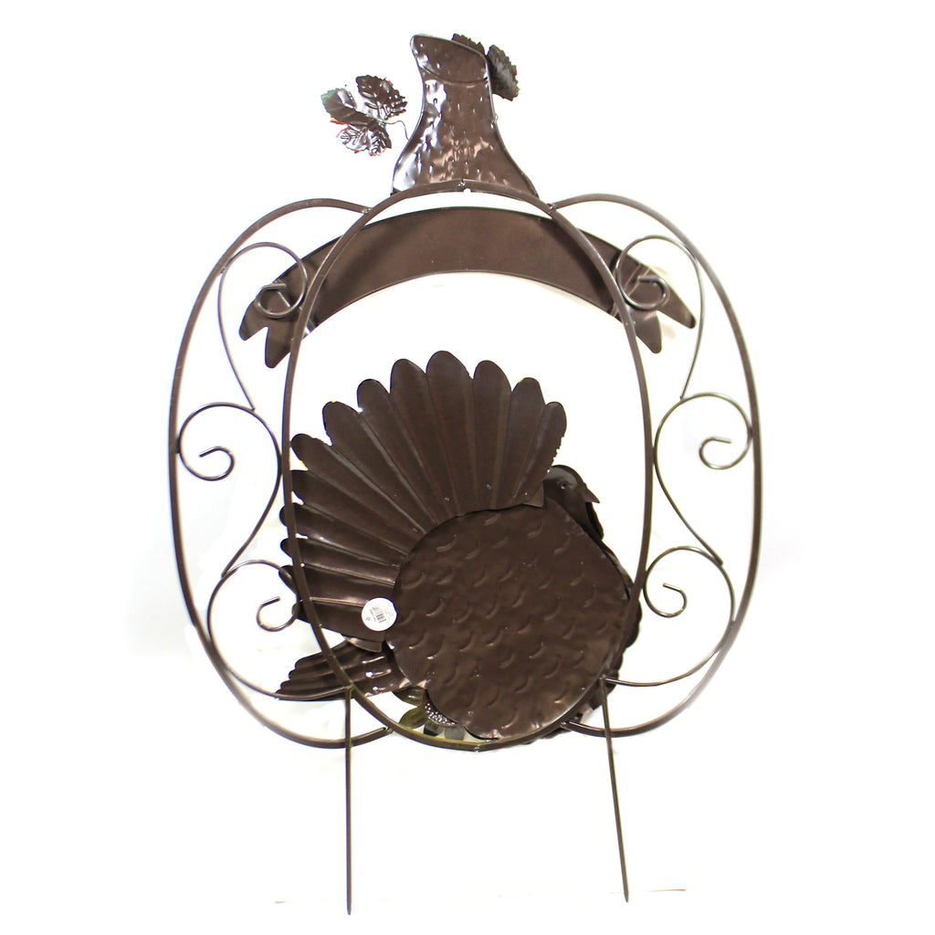 Turkey In Pumpkin Stake 30633809 Home & Garden Decorative Stakes And Pokes And Plant Sticks - SBKGIFTS.COM - SBK Gifts Christmas Shop Cincinnati - Story Book Kids