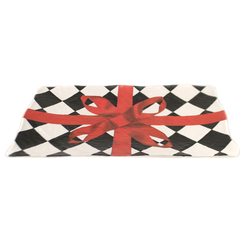 Rectangular Harlequin Platter 53663B Tabletop Plates And Platters - SBKGIFTS.COM - SBK Gifts Christmas Shop Cincinnati - Story Book Kids