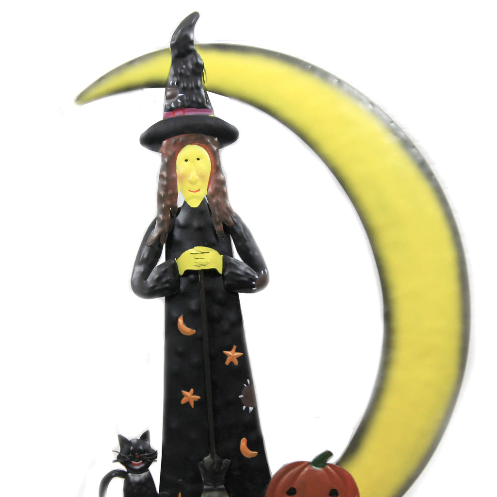 Witch In The Moon Stake 30633788 Home & Garden Decorative Stakes And Pokes And Plant Sticks - SBKGIFTS.COM - SBK Gifts Christmas Shop Cincinnati - Story Book Kids