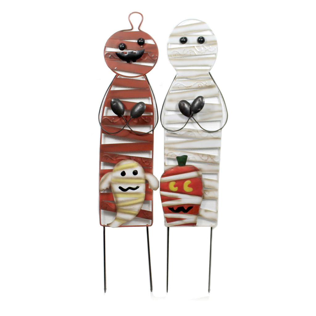 Mummy & Pumpkin Man Stakes 30633830 Home & Garden Decorative Stakes And Pokes And Plant Sticks - SBKGIFTS.COM - SBK Gifts Christmas Shop Cincinnati - Story Book Kids