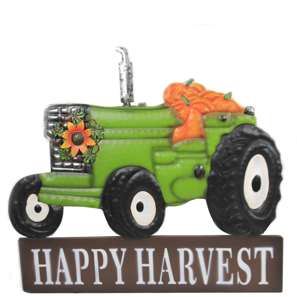 Happy Harvest Tractor Stake 31833680 Home & Garden Decorative Stakes And Pokes And Plant Sticks - SBKGIFTS.COM - SBK Gifts Christmas Shop Cincinnati - Story Book Kids