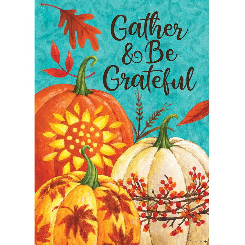 Gather Pumpkins Flag 4400Rm Home & Garden Other Garden Decor - SBKGIFTS.COM - SBK Gifts Christmas Shop Cincinnati - Story Book Kids