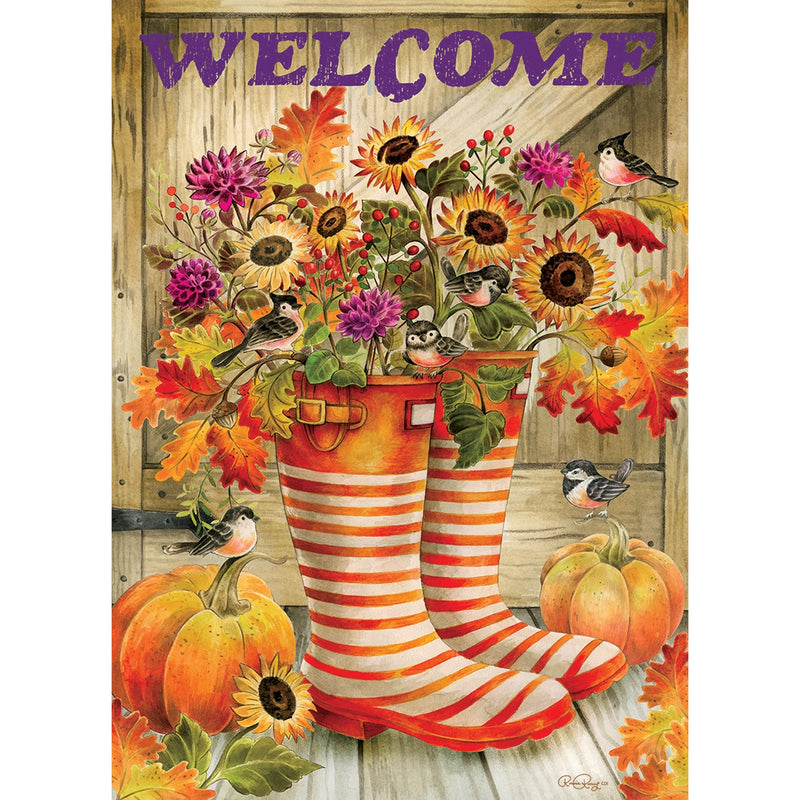 Welcome Boots Flag 3373Fm Home & Garden Other Garden Decor - SBKGIFTS.COM - SBK Gifts Christmas Shop Cincinnati - Story Book Kids