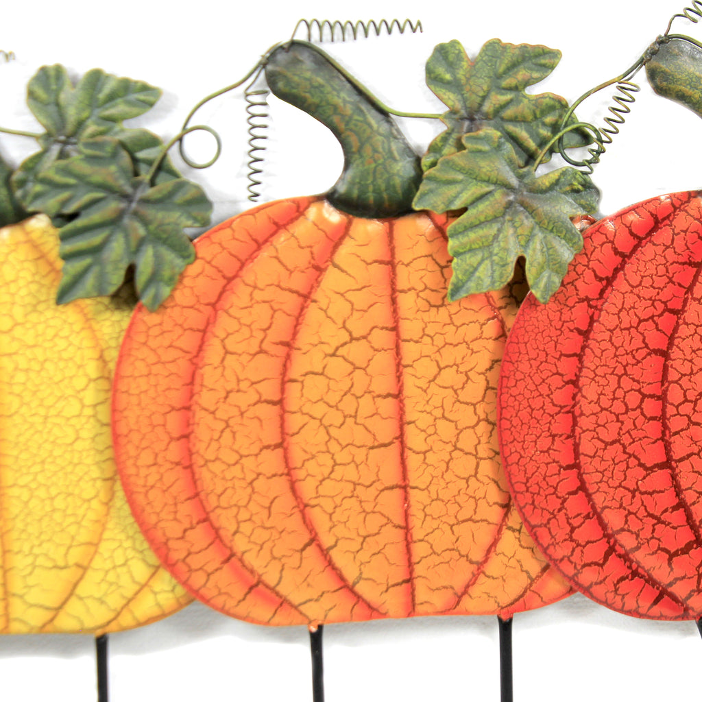Fall Color Pumpkins Stakes S/3 31833-773-774-775 Home & Garden Decorative Stakes And Pokes And Plant Sticks - SBKGIFTS.COM - SBK Gifts Christmas Shop Cincinnati - Story Book Kids