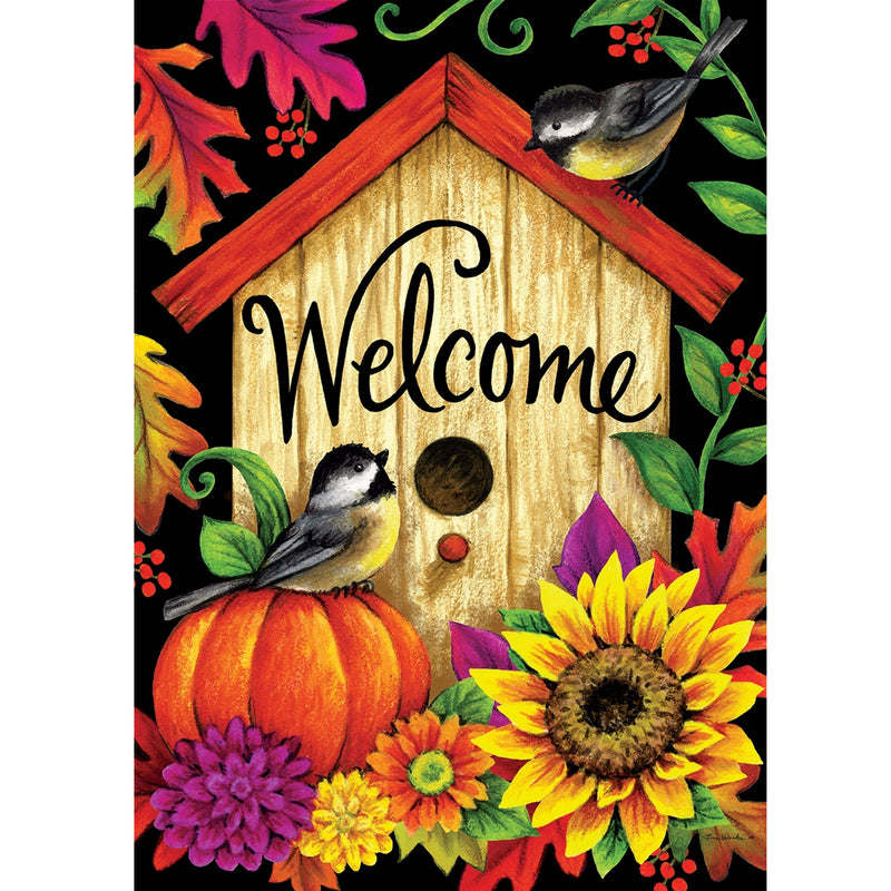 Fall Birdhouse Flag 3371Fm Home & Garden Other Garden Decor - SBKGIFTS.COM - SBK Gifts Christmas Shop Cincinnati - Story Book Kids