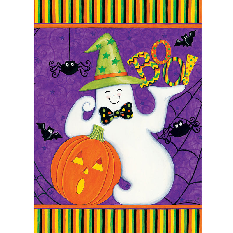 Friendly Ghost Flag 2518Fm Home & Garden Other Garden Decor - SBKGIFTS.COM - SBK Gifts Christmas Shop Cincinnati - Story Book Kids
