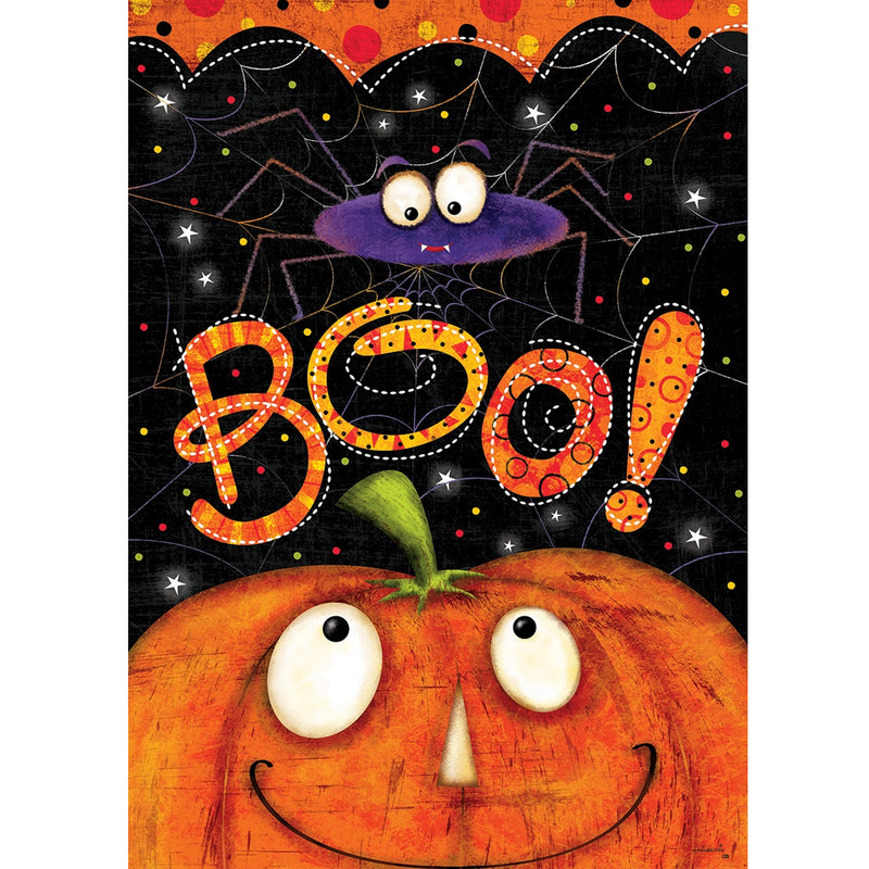 Boo Spider Flag 4114Fm Home & Garden - SBKGIFTS.COM - SBK Gifts Christmas Shop Cincinnati - Story Book Kids