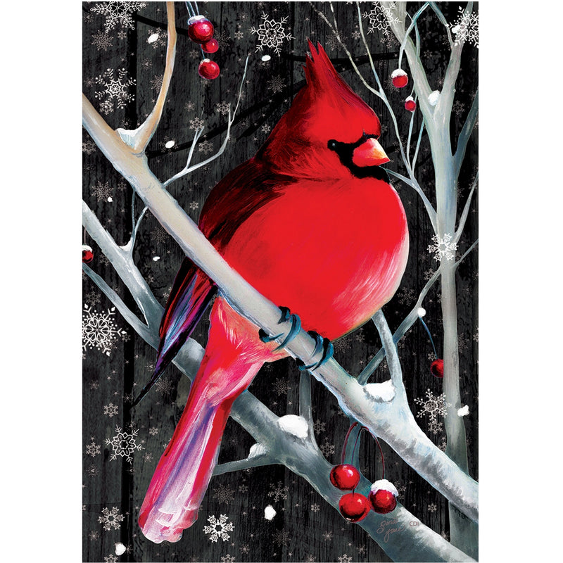 Midnight Cardinal Flag 3406Fm Home & Garden Other Garden Decor - SBKGIFTS.COM - SBK Gifts Christmas Shop Cincinnati - Story Book Kids