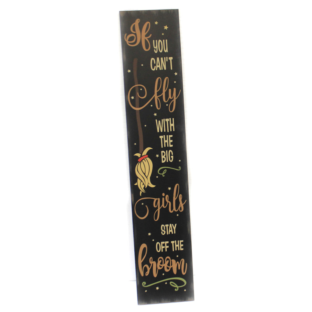 Broom Hanging / Lean Sign 50533959Js Halloween Signs And Plaques - SBKGIFTS.COM - SBK Gifts Christmas Shop Cincinnati - Story Book Kids