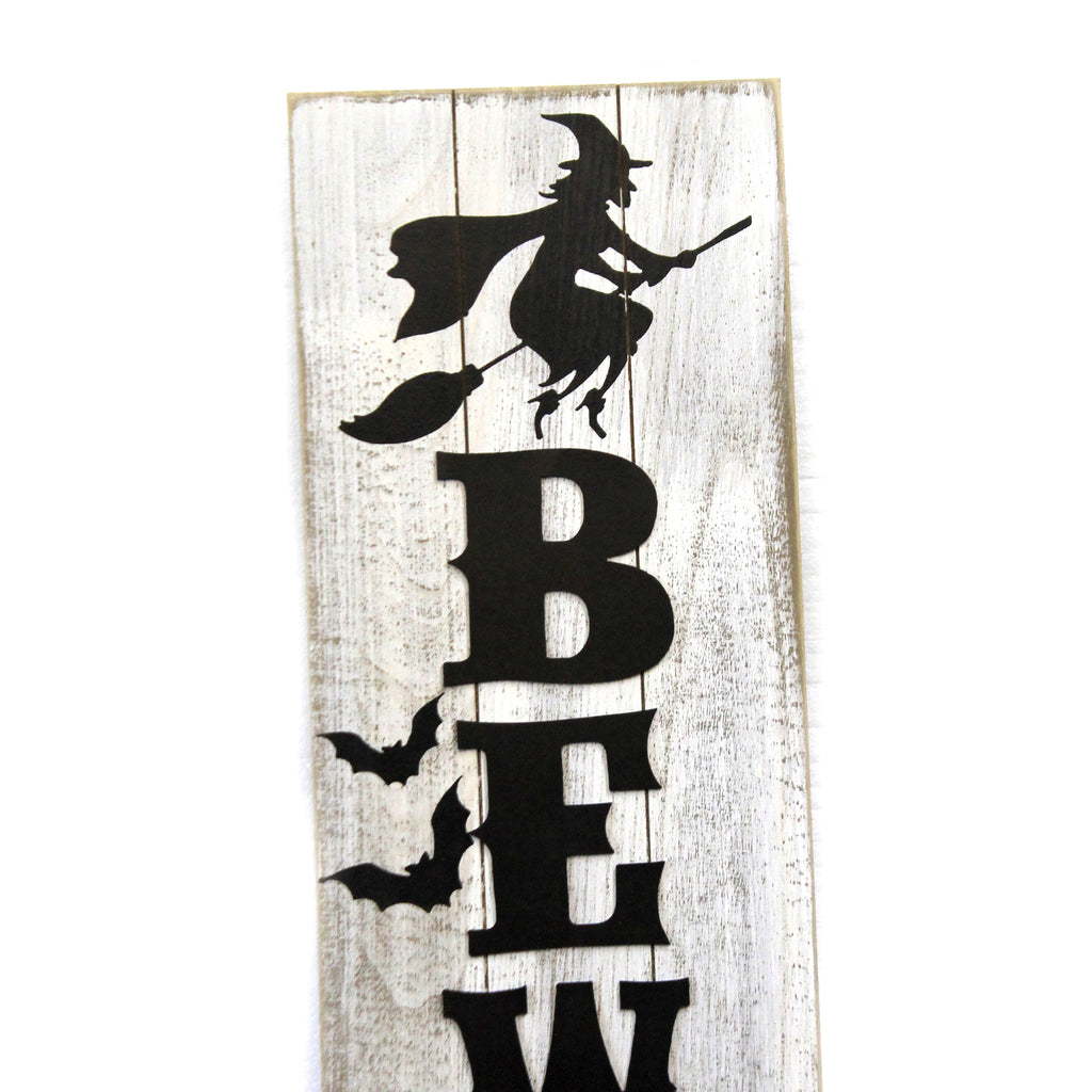 Beware Witch Sign 10733595 Halloween Signs And Plaques - SBKGIFTS.COM - SBK Gifts Christmas Shop Cincinnati - Story Book Kids