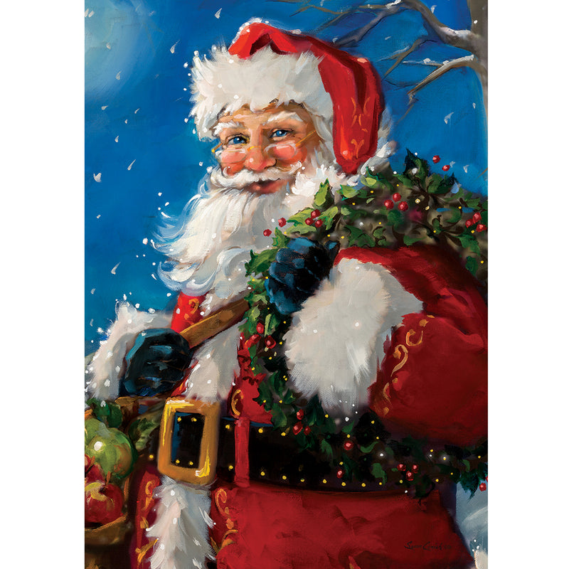 Jolly Santa Flag 3417Fm Home & Garden Other Garden Decor - SBKGIFTS.COM - SBK Gifts Christmas Shop Cincinnati - Story Book Kids