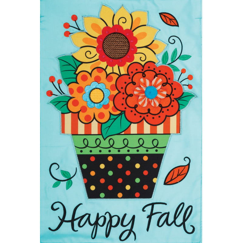 Fall Flowers Applique Flag 4198Fm Home & Garden Other Garden Decor - SBKGIFTS.COM - SBK Gifts Christmas Shop Cincinnati - Story Book Kids