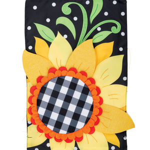 Gingham Sunflower Applique Flag 4510Fm Home & Garden Other Garden Decor - SBKGIFTS.COM - SBK Gifts Christmas Shop Cincinnati - Story Book Kids