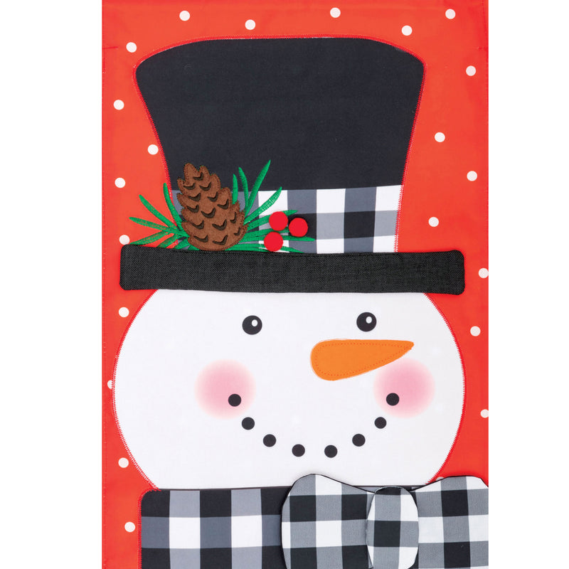 Gingham Snowman Applique Flag 4508Fm Home & Garden Other Garden Decor - SBKGIFTS.COM - SBK Gifts Christmas Shop Cincinnati - Story Book Kids