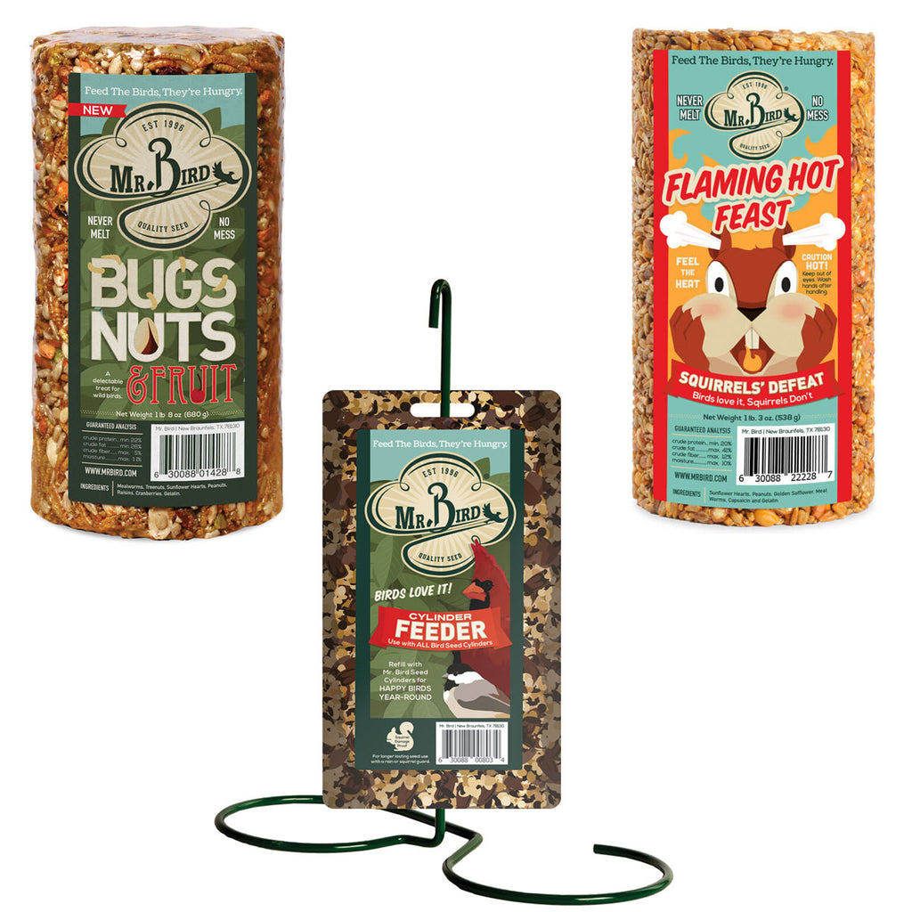 Cylinder Feed Cakes + Stand 803*228*428 Home & Garden Bird Supplies - SBKGIFTS.COM - SBK Gifts Christmas Shop Cincinnati - Story Book Kids