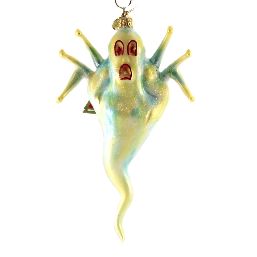 Scaredy Ghost 09178 Morawski Glass Ornaments - SBKGIFTS.COM - SBK Gifts Christmas Shop Cincinnati - Story Book Kids