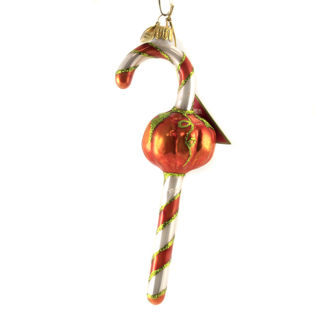 Orange & White Candy Cane 10490 Morawski Glass Ornaments - SBKGIFTS.COM - SBK Gifts Christmas Shop Cincinnati - Story Book Kids