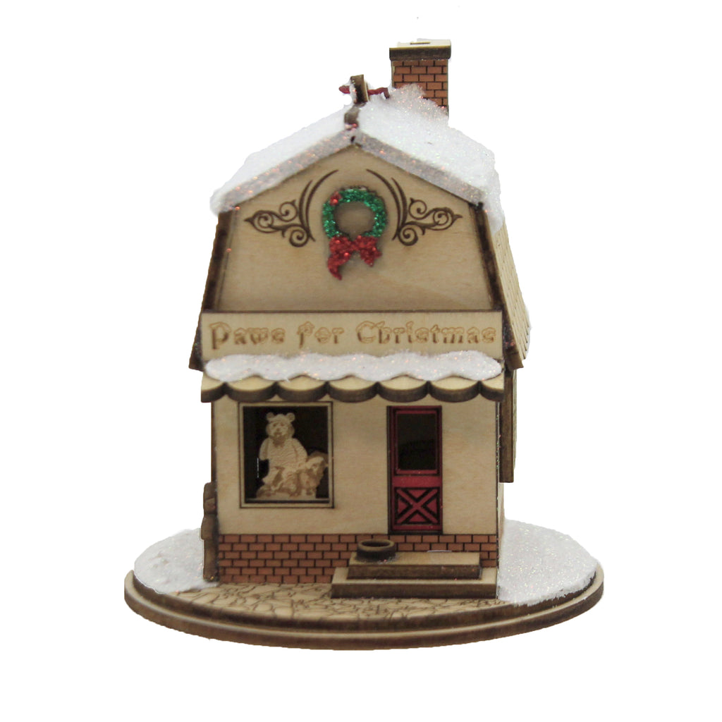 Paws For Christmas Pet Shop 80025. Ginger Cottages Wood Ornaments - SBKGIFTS.COM - SBK Gifts Christmas Shop Cincinnati - Story Book Kids