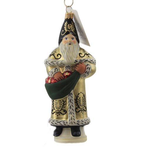 Golden Colonial Santa Or20504 Vaillancourt Glass Ornaments - SBKGIFTS.COM - SBK Gifts Christmas Shop Cincinnati - Story Book Kids