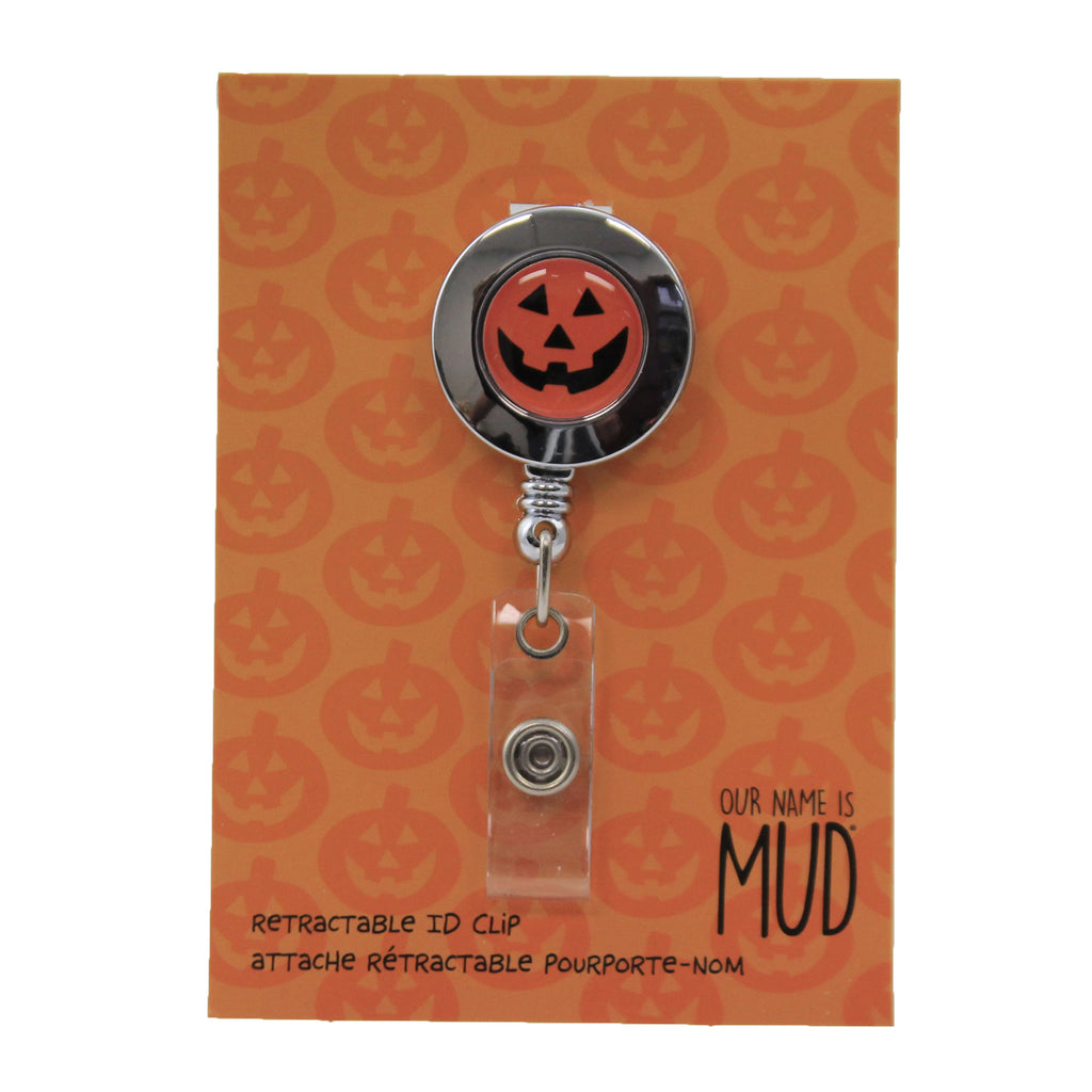 Pumpkin Retractable Id Clip 6006820 Accessories Key And Badge Holders - SBKGIFTS.COM - SBK Gifts Christmas Shop Cincinnati - Story Book Kids