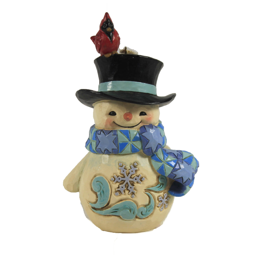 Snowman W/ Cardinal Ornament 6006680 Jim Shore Resin Ornaments - SBKGIFTS.COM - SBK Gifts Christmas Shop Cincinnati - Story Book Kids