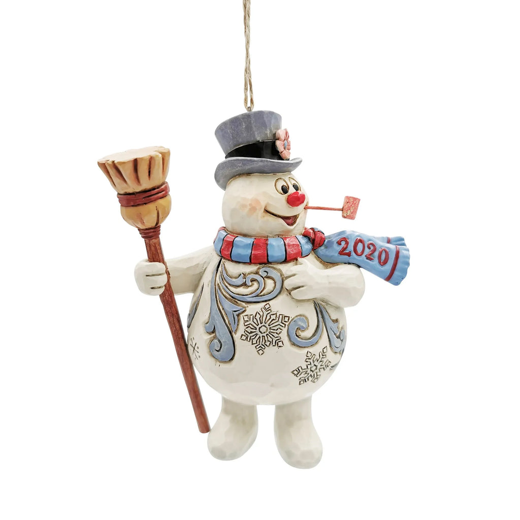 Frosty With Broom 2020 Ornament 6007345 Jim Shore Resin Ornaments - SBKGIFTS.COM - SBK Gifts Christmas Shop Cincinnati - Story Book Kids