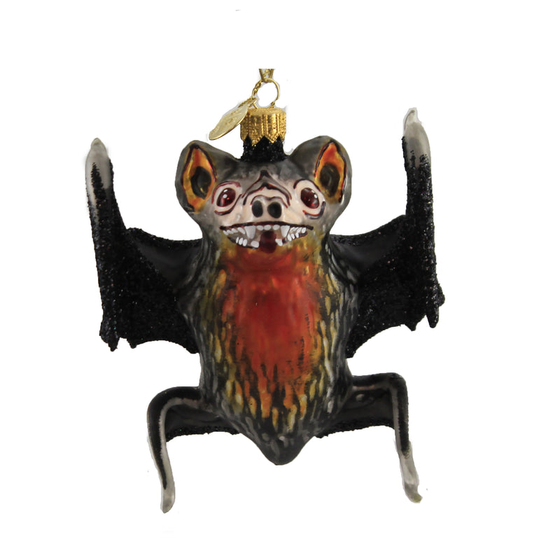 Black & Orange Bat 12013 Morawski Morawski Glass Ornaments - SBKGIFTS.COM - SBK Gifts Christmas Shop Cincinnati - Story Book Kids
