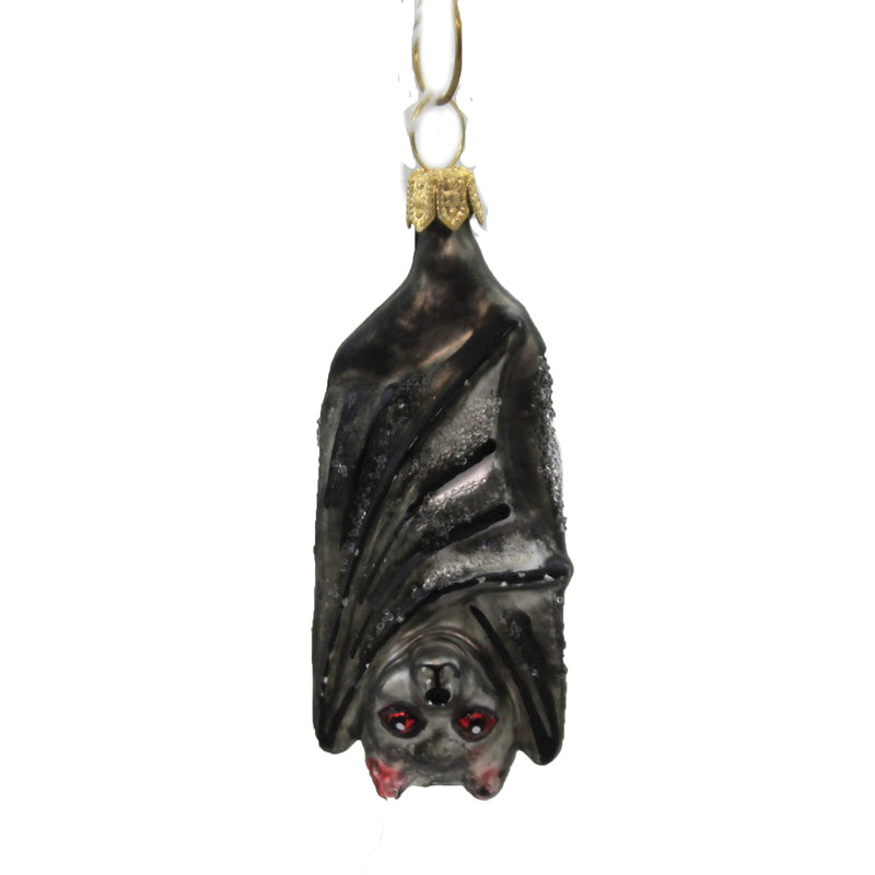 Mini Black Bat 139349 Morawski Glass Ornaments - SBKGIFTS.COM - SBK Gifts Christmas Shop Cincinnati - Story Book Kids