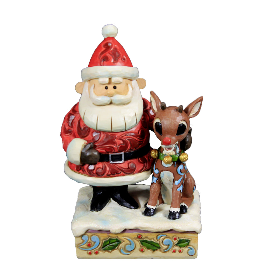 Santa Hugging Rudolph Lit Nose 6006788 Jim Shore Figurines - SBKGIFTS.COM - SBK Gifts Christmas Shop Cincinnati - Story Book Kids