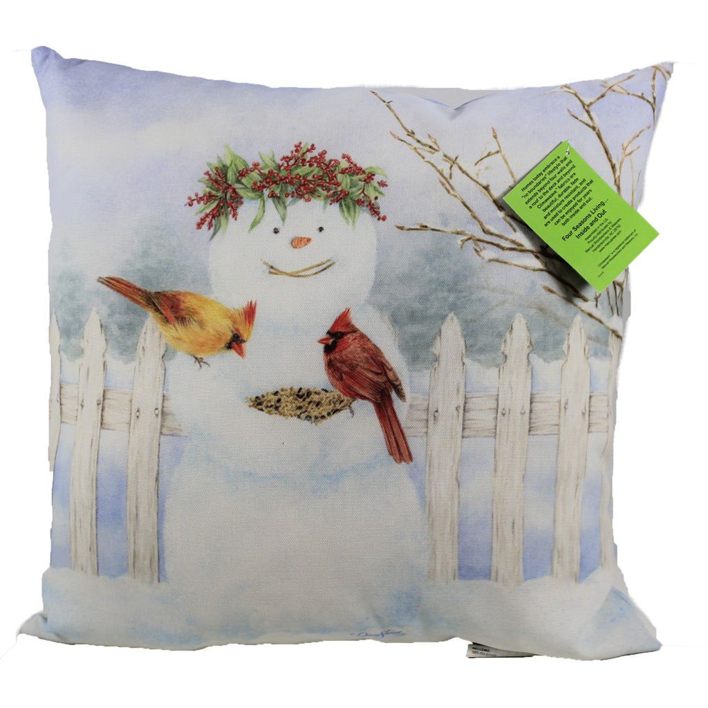 Happy Snowman W/Birdseed Slhsb Christmas Decorative Pillows - SBKGIFTS.COM - SBK Gifts Christmas Shop Cincinnati - Story Book Kids