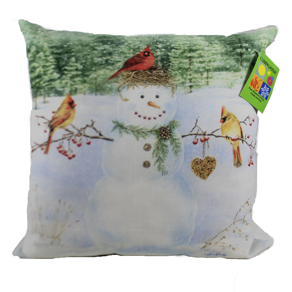 Happy Snowman With Heart Slhsh Christmas Decorative Pillows - SBKGIFTS.COM - SBK Gifts Christmas Shop Cincinnati - Story Book Kids
