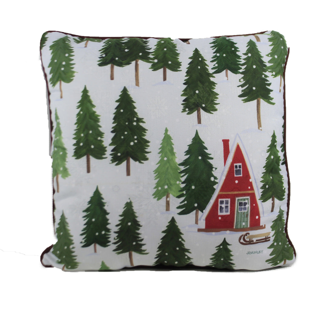 Alpine Cabin Pillow Slalp Christmas Decorative Pillows - SBKGIFTS.COM - SBK Gifts Christmas Shop Cincinnati - Story Book Kids