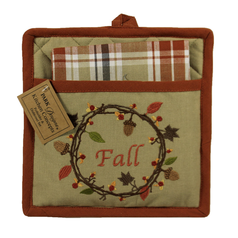 Autumn Wreath Potholder 9596152 Tabletop Trivets And Pot Holders - SBKGIFTS.COM - SBK Gifts Christmas Shop Cincinnati - Story Book Kids