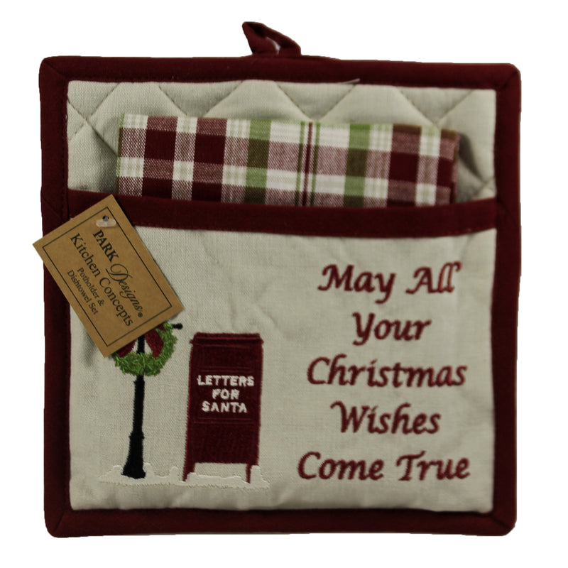 Santa Mailbox Pocket Pot Holder 9996152 Tabletop Trivets And Pot Holders - SBKGIFTS.COM - SBK Gifts Christmas Shop Cincinnati - Story Book Kids
