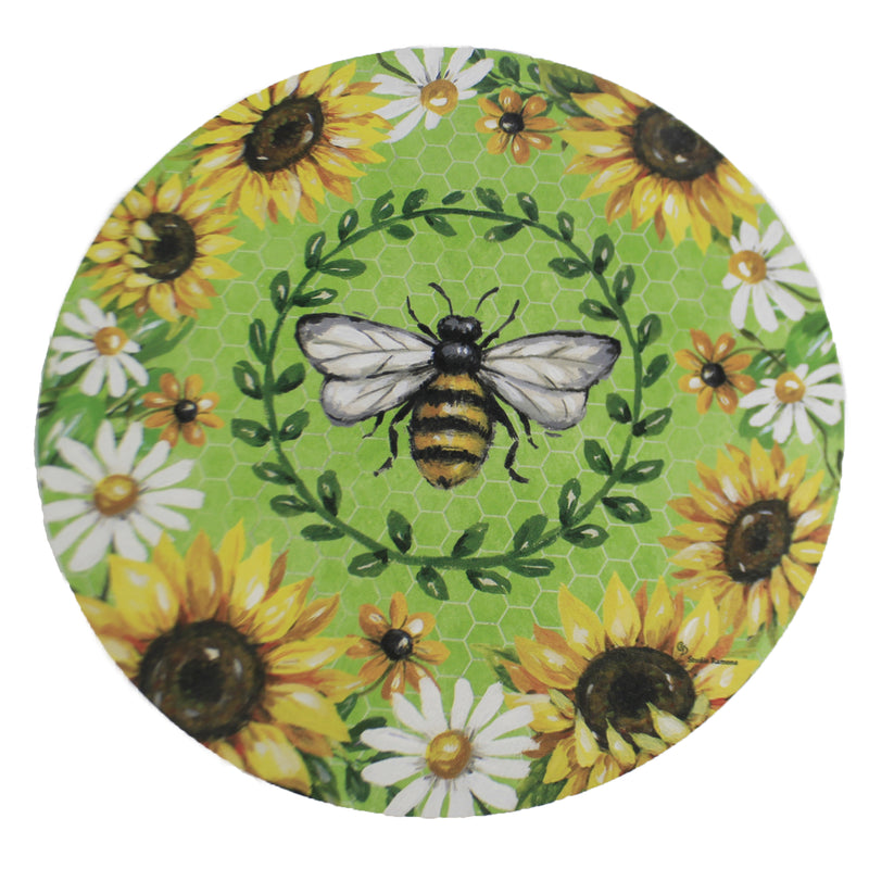 Bumblebee Sunflowers Stone 4263St Home & Garden Decorative Stepping Stones - SBKGIFTS.COM - SBK Gifts Christmas Shop Cincinnati - Story Book Kids