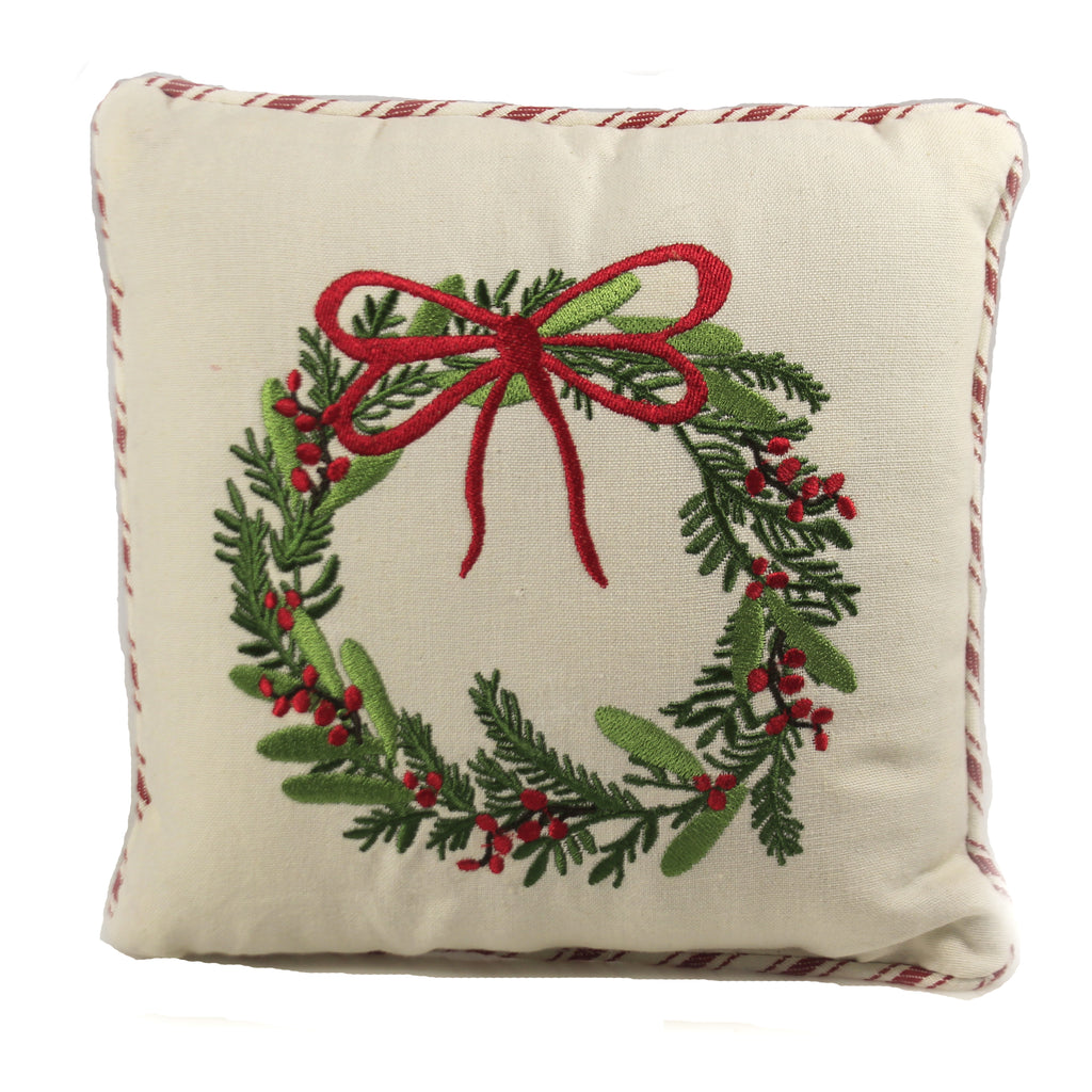 Wreath Pillow 9990501 Home Decor Decorative Pillows - SBKGIFTS.COM - SBK Gifts Christmas Shop Cincinnati - Story Book Kids