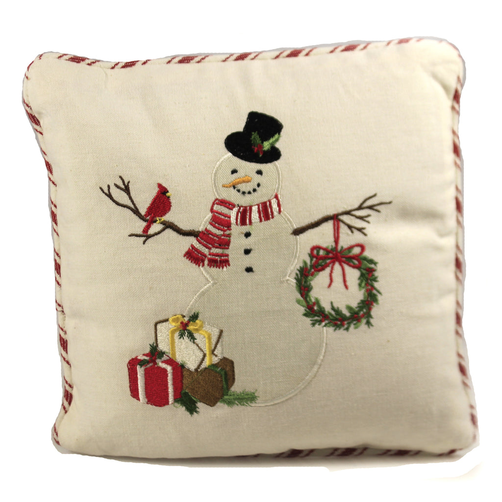 Snowman With Cardinal Pillow 9990500 Home Decor Decorative Pillows - SBKGIFTS.COM - SBK Gifts Christmas Shop Cincinnati - Story Book Kids