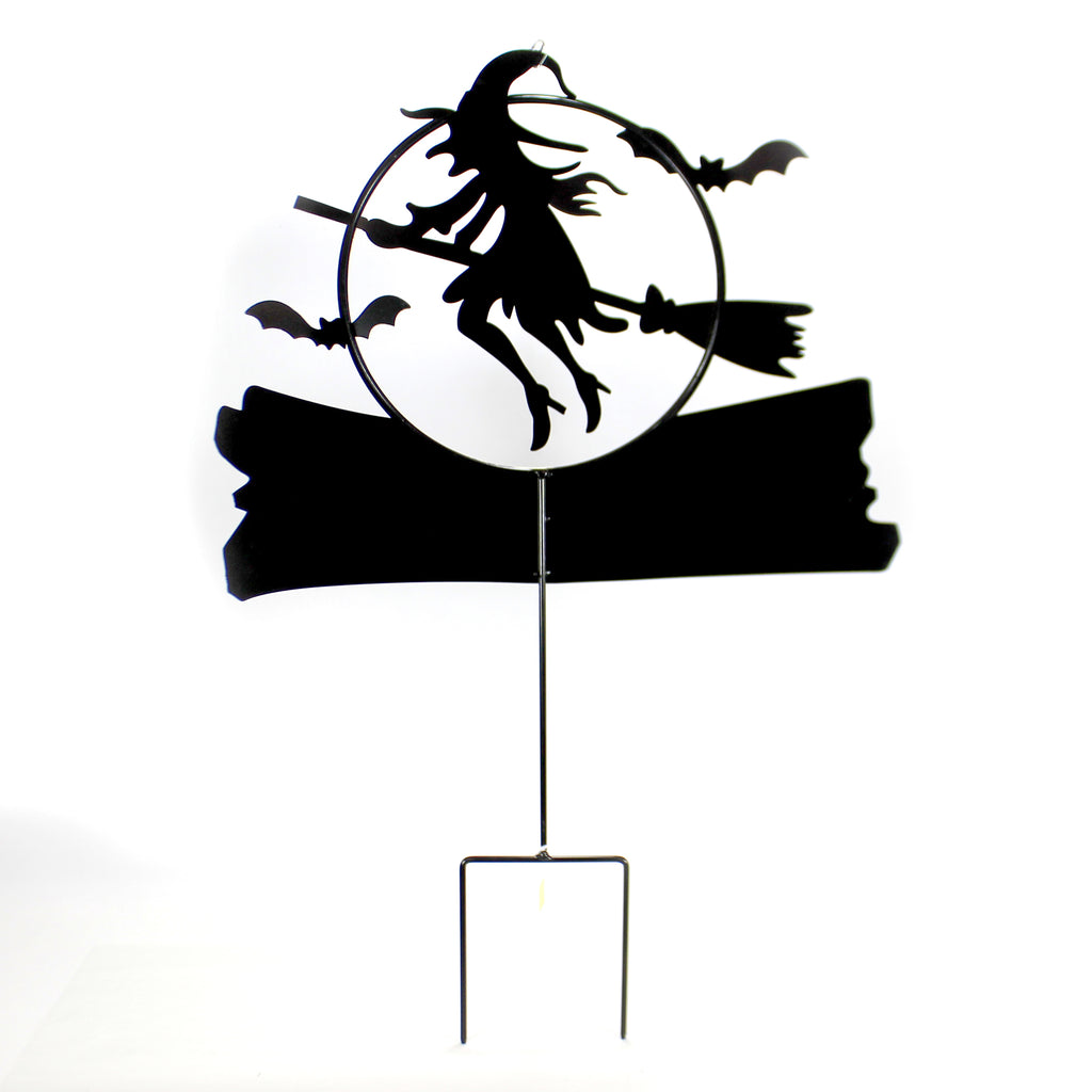 Trick Or Treat Witch Stake 32733859 Halloween Decorative Stakes And Pokes And Plant Sticks - SBKGIFTS.COM - SBK Gifts Christmas Shop Cincinnati - Story Book Kids