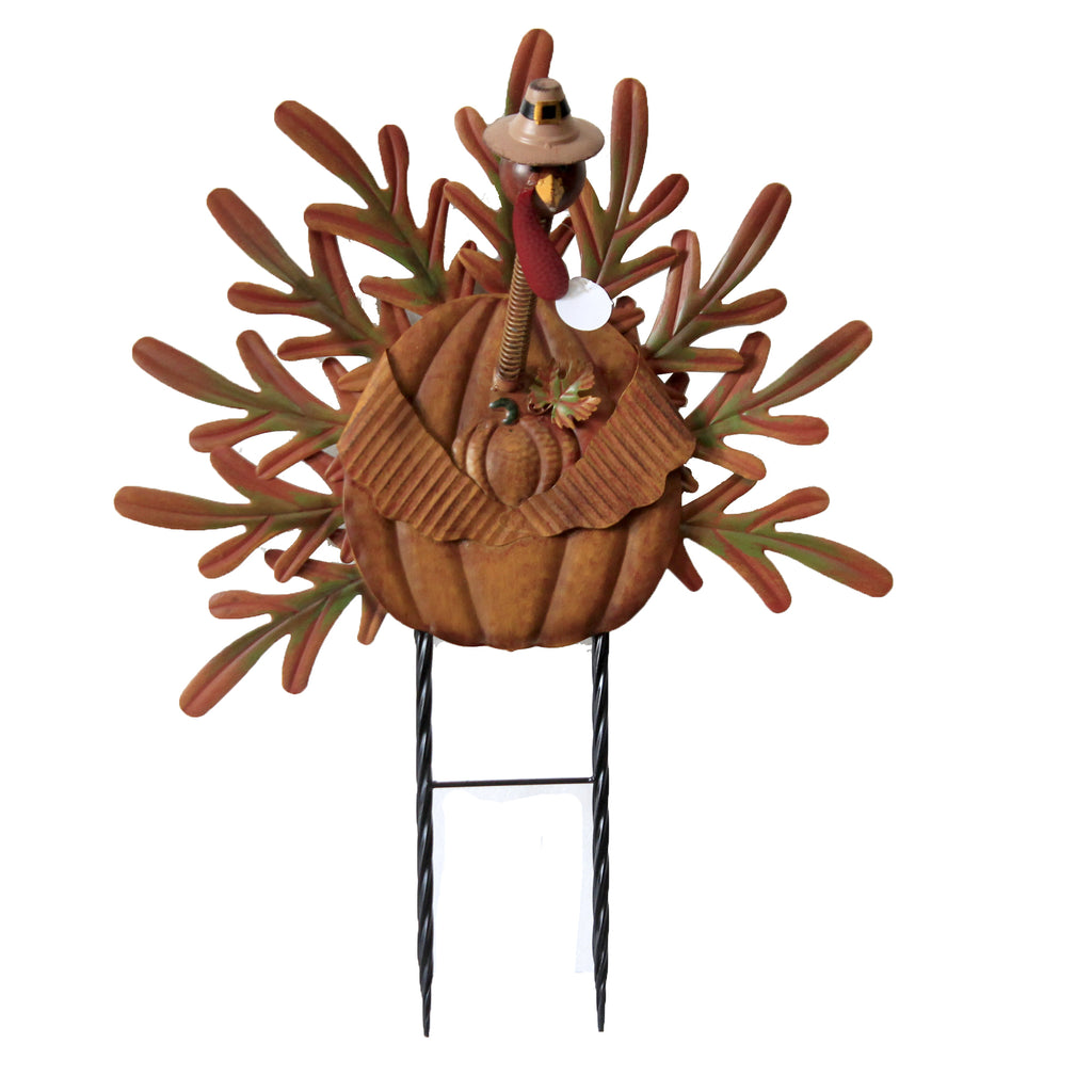 Bobbing Head Turkey 31833755 Thanksgiving Decorative Stakes And Pokes And Plant Sticks - SBKGIFTS.COM - SBK Gifts Christmas Shop Cincinnati - Story Book Kids