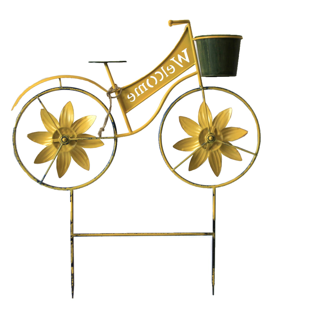 Sunflower Bicycle 31833671 Fall Decorative Stakes And Pokes And Plant Sticks - SBKGIFTS.COM - SBK Gifts Christmas Shop Cincinnati - Story Book Kids