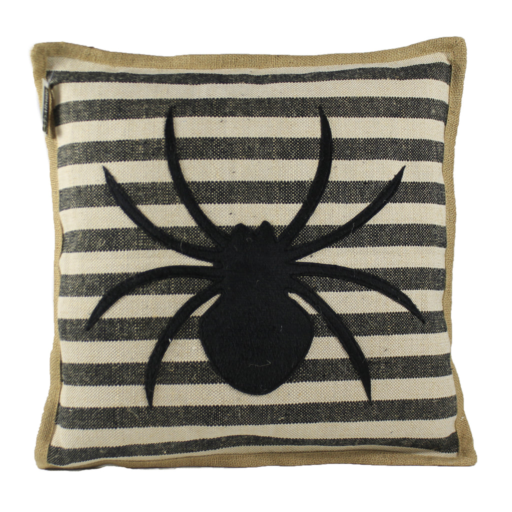 Black Spider Throw Pillow Aag769 Halloween Decorative Pillows - SBKGIFTS.COM - SBK Gifts Christmas Shop Cincinnati - Story Book Kids