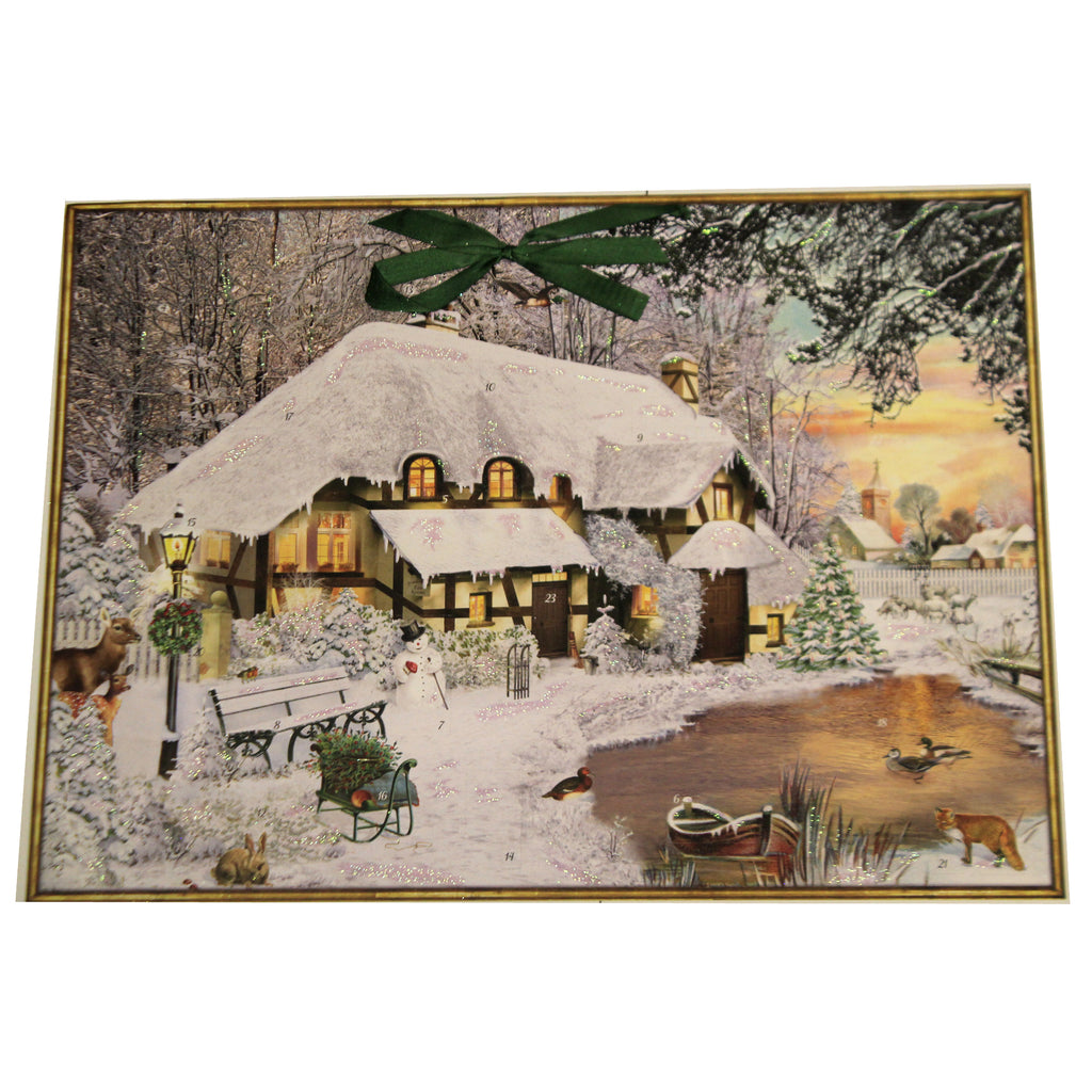 Winter Cottage In The Woods 71997 Christmas Advent Calendars - SBKGIFTS.COM - SBK Gifts Christmas Shop Cincinnati - Story Book Kids