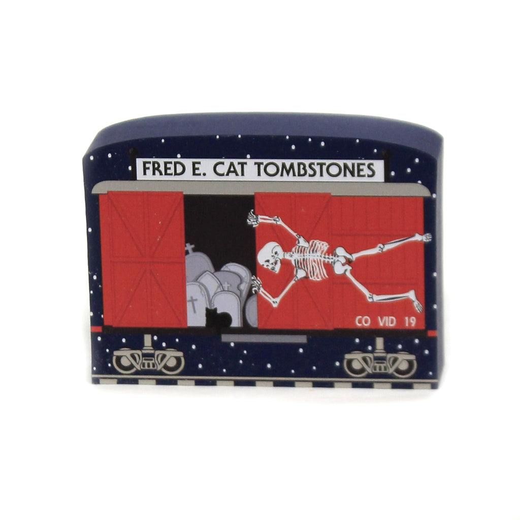 Fred E. Cat Tombstones 20634 Cats Meow Village Keepsakes - SBKGIFTS.COM - SBK Gifts Christmas Shop Cincinnati - Story Book Kids