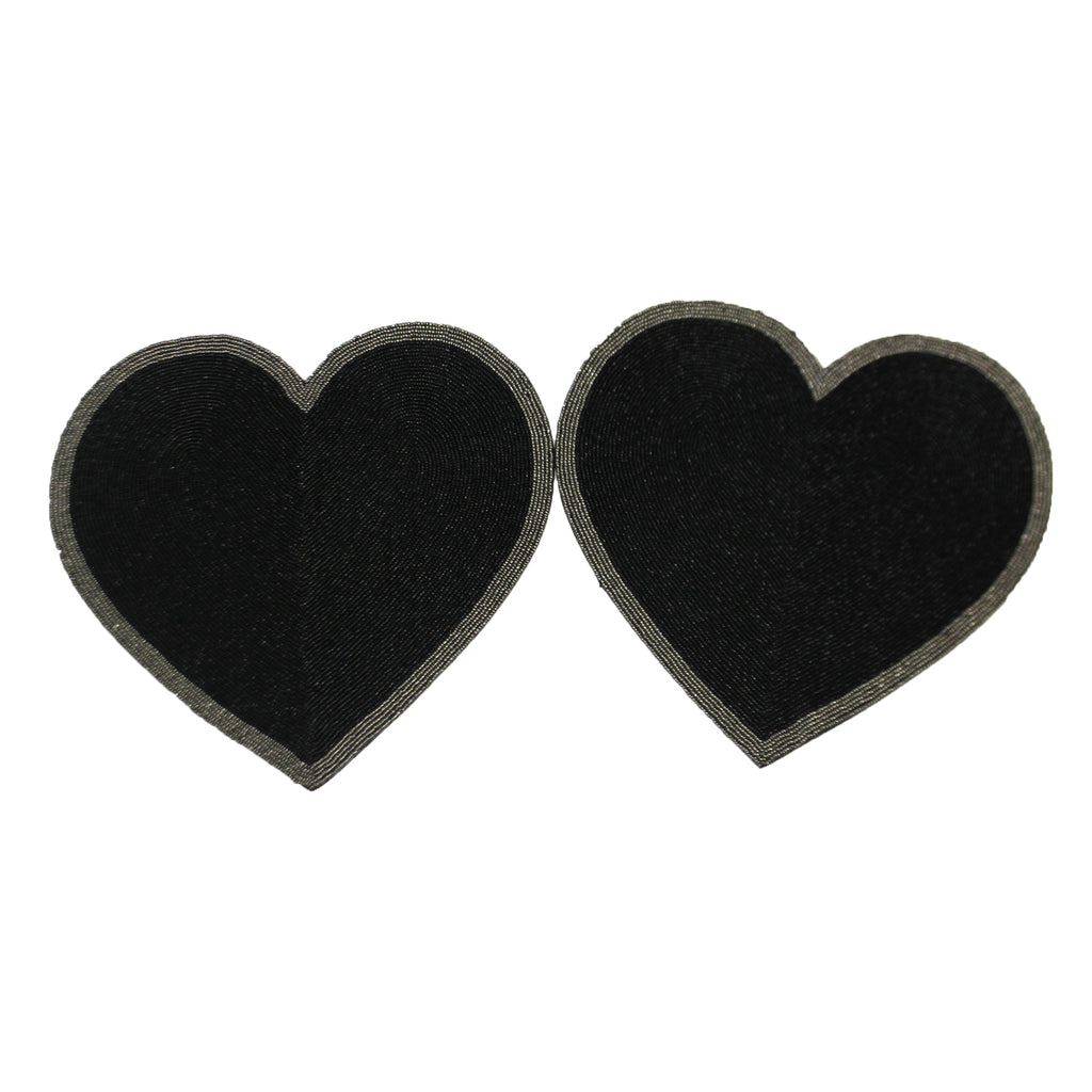 Black Heart Beaded Placemats Pp1803 Tabletop Other Decorative Serveware And Kitchen Accessories - SBKGIFTS.COM - SBK Gifts Christmas Shop Cincinnati - Story Book Kids