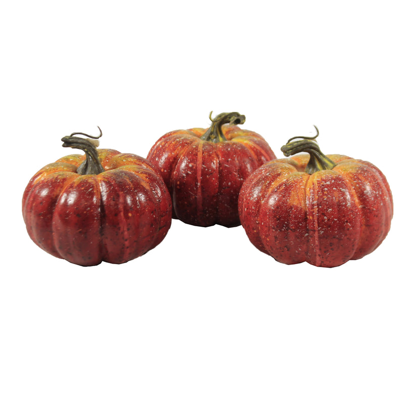 Reddish Pumpkins Set/3 Vzp141 Home Decor Home Decor - SBKGIFTS.COM - SBK Gifts Christmas Shop Cincinnati - Story Book Kids